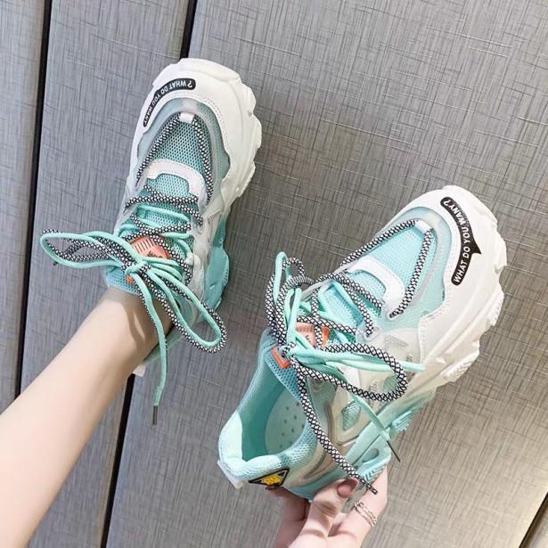 giày thể thao nữ sneaker nữ lưới đế 3 màu giá rẻ
