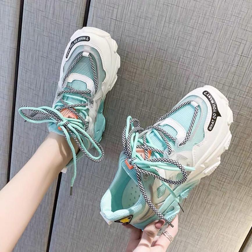 giày thể thao nữ lưới đế màu giá rẻ