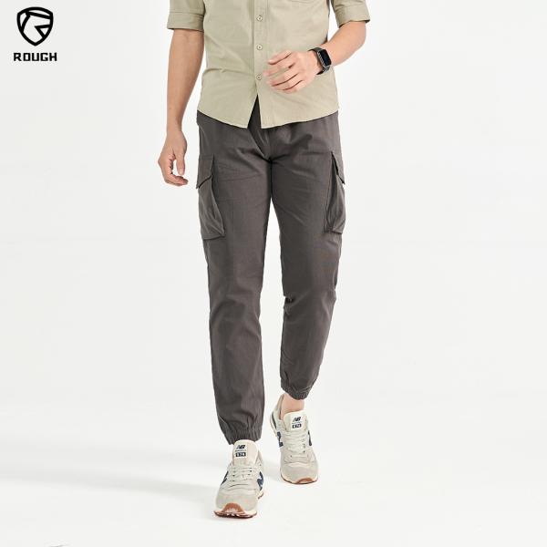 Quần Jogger Túi Hôp Nam ROUGH Outfit Chất Đũi Sơ Gỗ ( Sồi )