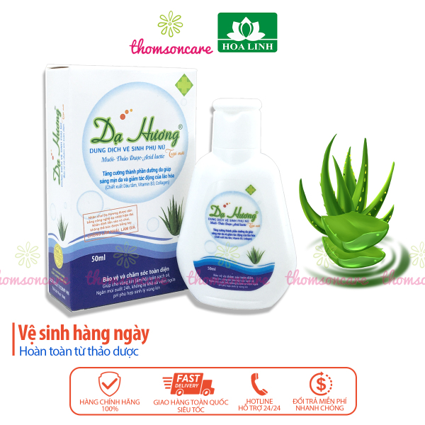 Dạ hương - dung dịch vệ sinh phụ nữ - chai 50ml, nước rửa phụ khoa, ddvs hàng ngày