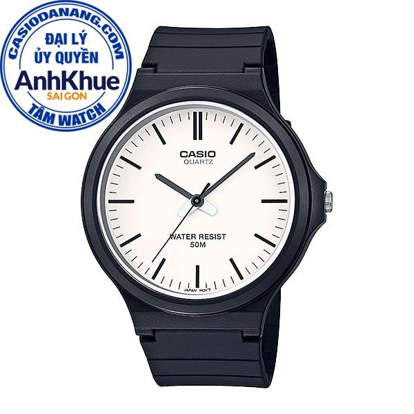 Đồng hồ nam dây nhựa Casio Standard chính hãng Anh Khuê MW-240-7EVDF (43mm)