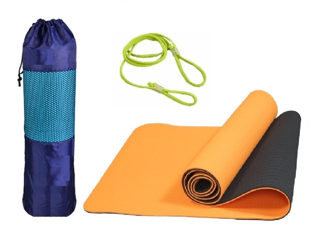 Thảm Tập Yoga 2 Lớp MiDoctor + Bao Thảm Tập Yoga + Dây Thảm Tập Yoga (Giao Màu Ngẫu Nhiên) Duy Nhất Khuyến Mại Hôm Nay