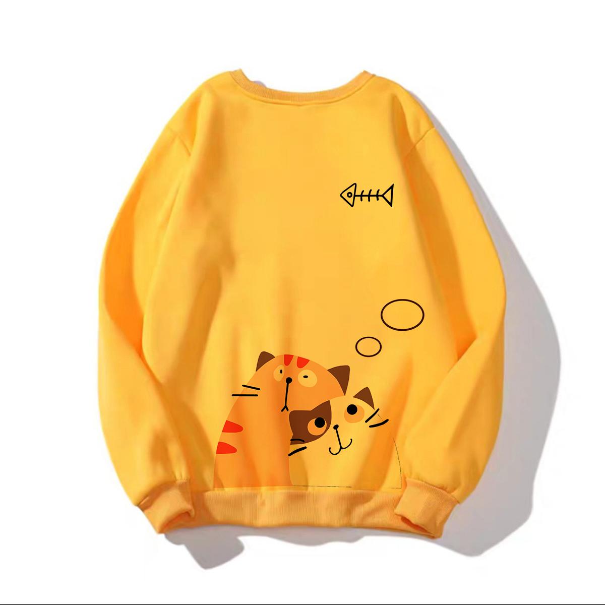 Voucher Khuyến Mãi Áo Sweater In Hình Mèo Siêu Kute Có Nhiều Màu Lựa Chọn