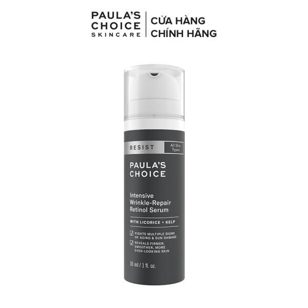 Tinh chất chống lão hóa và làm mờ nếp nhăn li ti Retinol Paulas Choice Resist Intensive Wrinkle - Repair Retinol Serum
