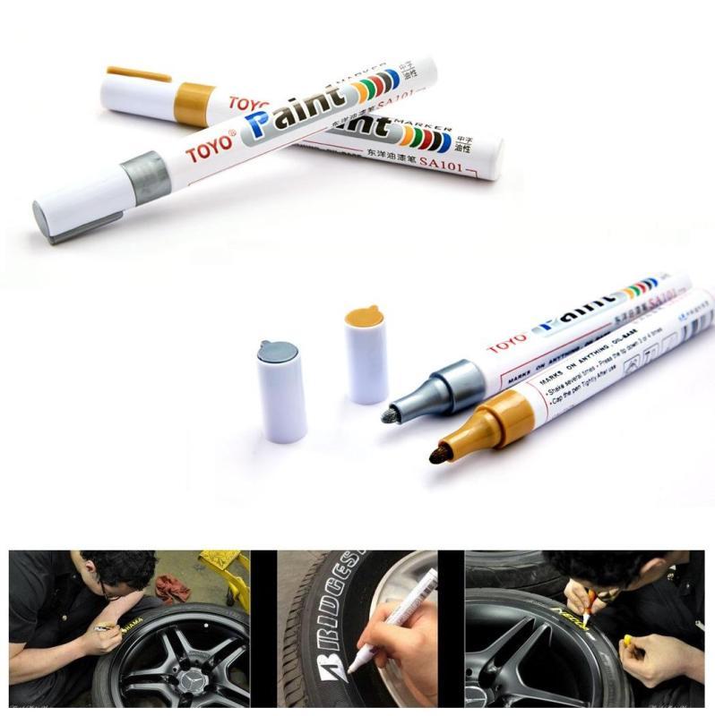 Bút Vẽ Toyo Paint Marker Trang Trí Lốp Xe Ôtô, Xe Máy, Xe Đạp, Bề Mặt Gỗ, Kim Loại, Vải... (Full Màu)