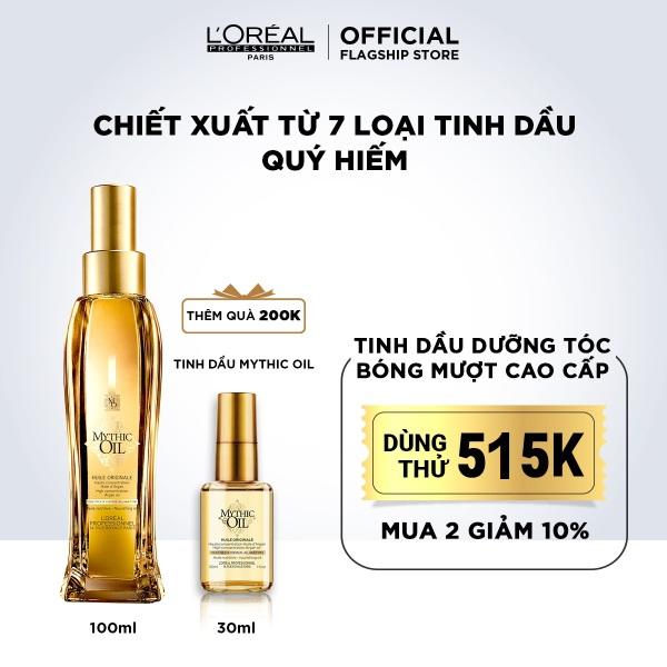 Dầu dưỡng tóc bóng mượt cao cấp LOréal Professionnel Mythic Oil 100ml nhập khẩu