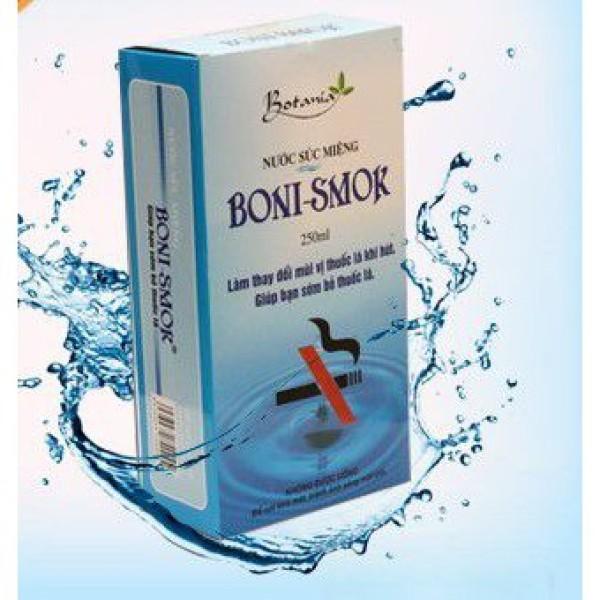 Nước súc miệng giúp bỏ thuốc lá Boni Smok - Cai thuốc lá Khử hôi miệng, chống sâu răng giá rẻ