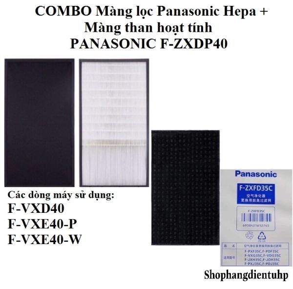 COMBO Màng lọc Panasonic Hepa + Màng than hoạt tính F-ZXDP40