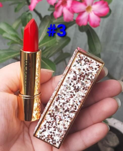 [Đỏ Cam] Son lì lâu trôi  WODWOD Diamond Hàn Quốc Matte Rouge Red Orange tông màu thời thượng 3.8g