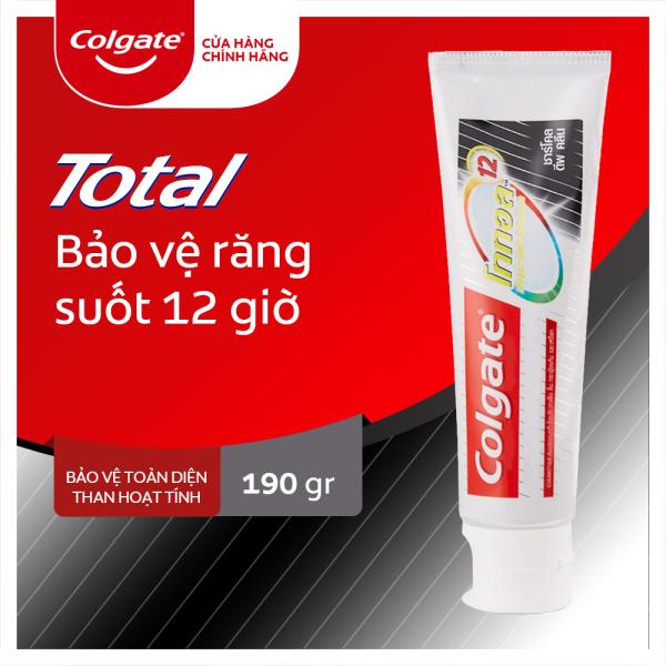 Kem đánh răng Colgate giảm chảy máu nướu Total than hoạt tính bảo vệ toàn diện 190g/tuýp