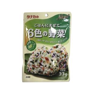 Gia vị rắc cơm rau củ 6 màu Tanaka Nhật cho bé từ 1 tuổi (33g) - Gia vị cho bé ăn dặm Tanaka bổ sung dinh dưỡng, hàng nội địa Nhật - VTP mẹ và bé TXTP084 thumbnail