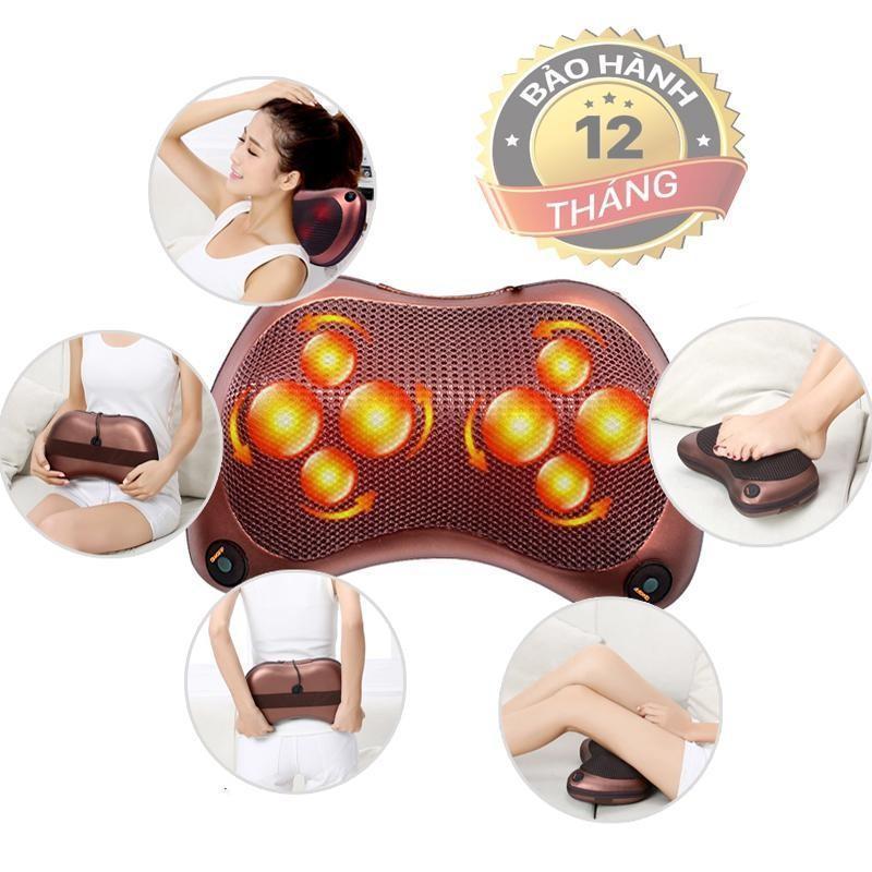 Gối Massage Lưng, Gối Massage,  Gối Massage Hồng Ngoại 8 Bi  Không Lo Đau Mỏi Lưu Thông Mạch Máu Sản Phẩm Chất Lượng Cao Bảo Hành Uy Tín 1 Đổi 1