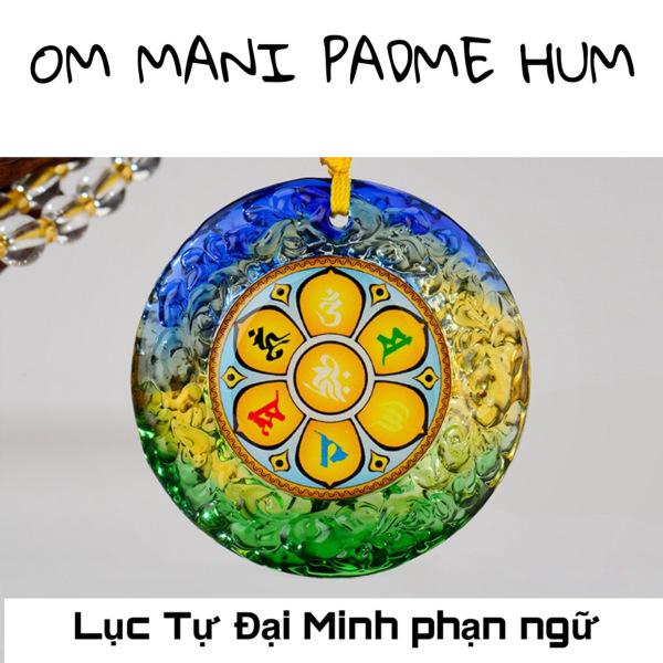 Dây chuyền Lục Tự Đại Minh phạn ngữ - Dây đeo cổ Om mani Padme Hum