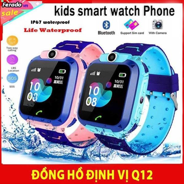 Đồng Hồ Thông Minh Định Vị Trẻ Em Q12 Chống nước tuyệt đối Hỗ Trợ Camera, Tích Hợp Đèn Pin Giao Diện Tiếng Việt , đồng hồ nghe gọi , smartwatch , dùng cho smarphone android , ios , Lắp được sim , chụp ảnh
