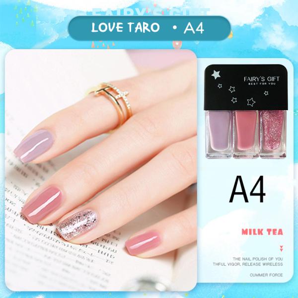 SAINYE 3 cái / bộ Sơn móng tay không thấm nước Sơn móng tay màu hồng khô nhanh và lâu trôi  N8039 cao cấp