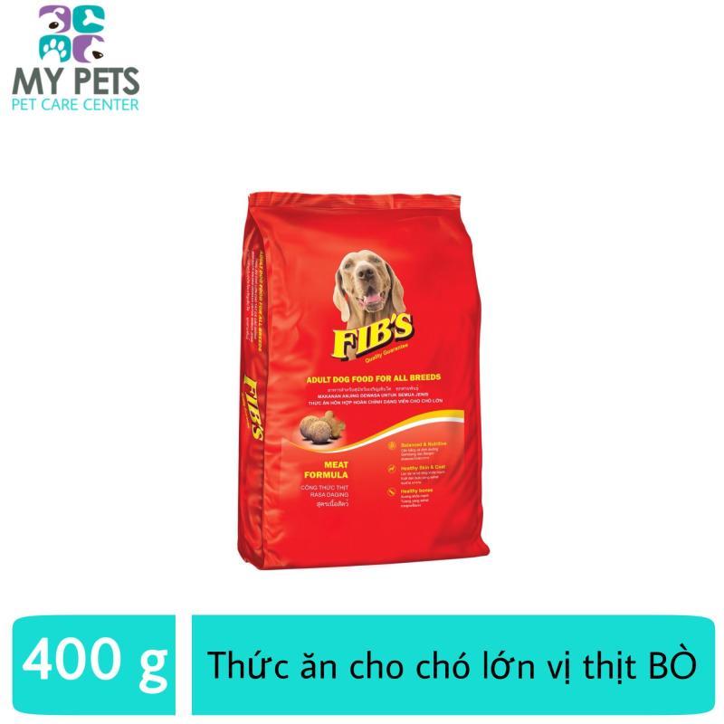 Thức ăn cho chó lớn vị thịt bò - Thức ăn cho mọi loại chó trưởng thành - Fibs 400g