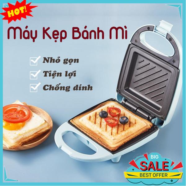 Máy Kẹp Nướng Bánh Mì Mini, Ép Sandwich, Rán Trứng, Làm Đồ Ăn Sáng, Nướng Thịt 2 Mặt Đa Năng ACE STORE