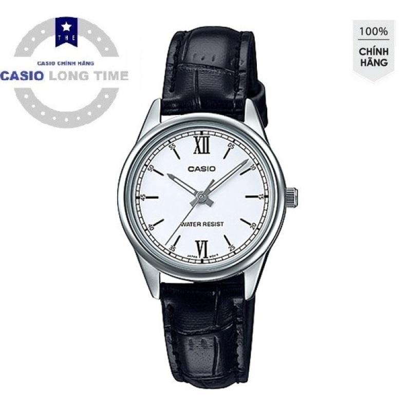 Đồng hồ nữ dây da Casio Standard chính hãng Anh Khuê LTP-V005L-7B2UDF
