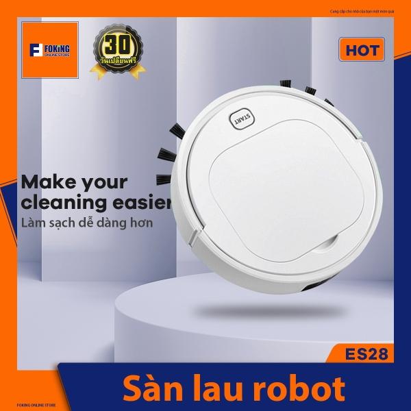 FOKING Robot quét Máy hút bụi Robot Máy hút bụi nhà thông minh Máy hút bụi dành cho chó Loại bỏ bụi-Trâu-lau nhà sạch sẽ.[Chính hãng] ES28