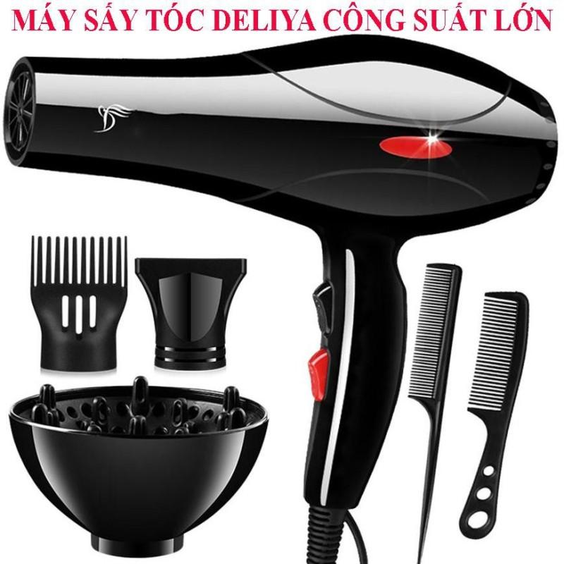 Máy sấy tóc Deliya 8018 công suất 2200W có 3 chiều nóng, vừa, mát thỏa sức lựa chọn, không lo tóc hư tổn - TẶNG KÈM 5 PHỤ KIỆN TẠO KIỂU TÓC [ BẢO HÀNH 1 NĂM - ĐỔI MỚI 1-1 TRONG 7 NGÀY ]