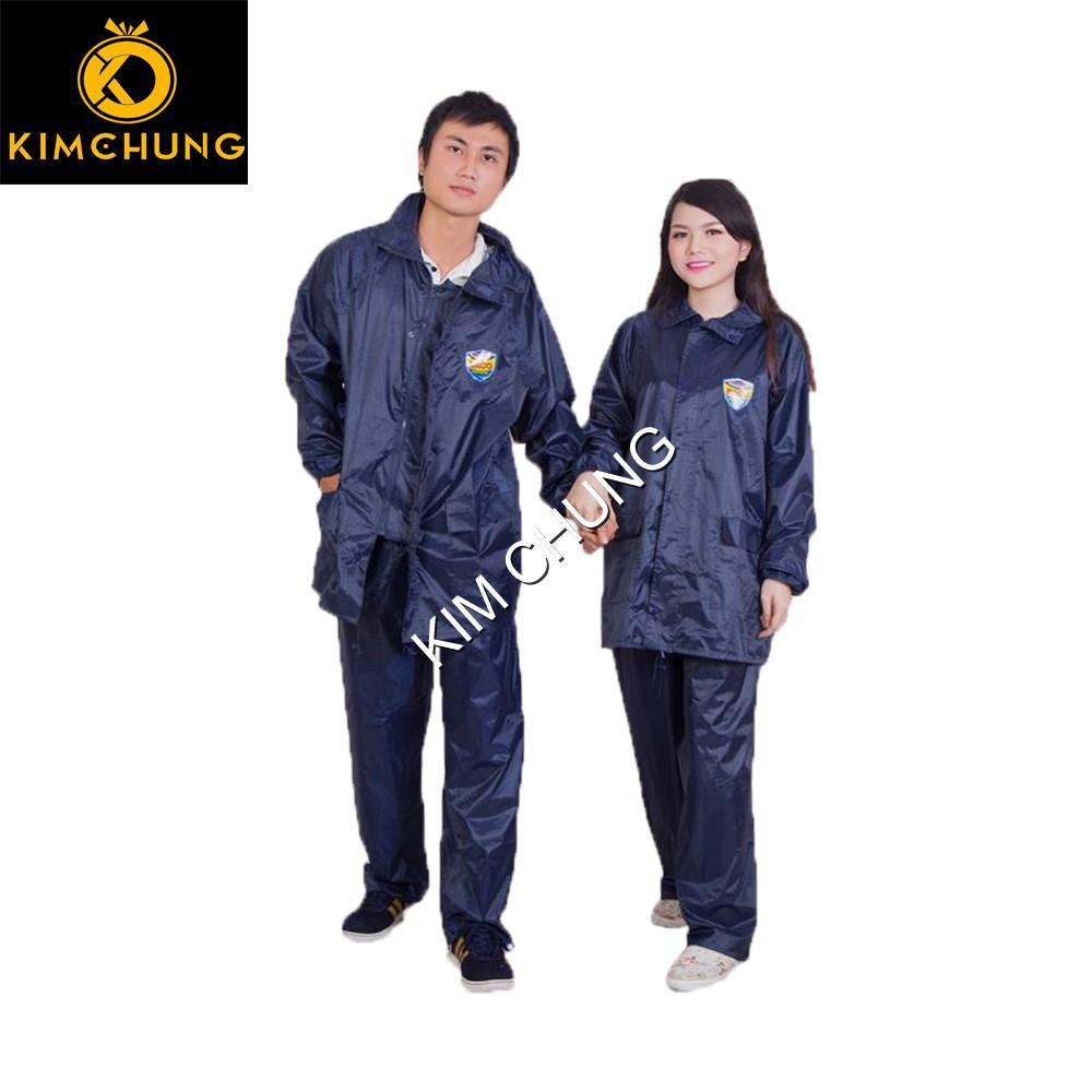 Áo mưa bộ vải dù, bộ quần áo mưa siêu bền (Size 1XL từ 1m5-1m55)
