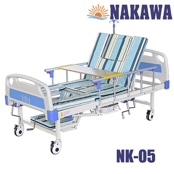 Giường bệnh nhân 4 tay quay đa năng NAKAWA NK-05,[Giá:11.500.000],giương y tế 4 tay quay đa chức năng, giường bệnh cao cấp, giuong benh nhan, giuong y te, giuong benh, nursingbed