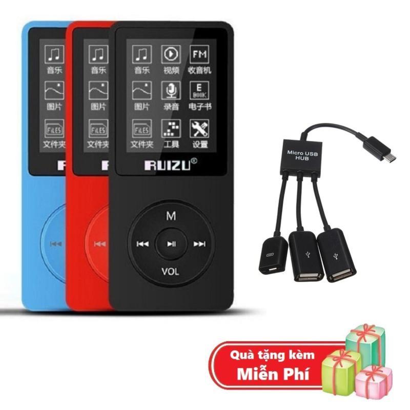 ( Quà tặng Cáp OTG 3 đầu ) Máy nghe nhạc mp3 Ruizu X02 bộ nhớ trong 8G hỗ trợ thẻ nhớ lên đến 64G cao cấp
