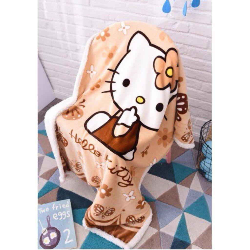 Chăn mền lông cừu cho bé, chăn mền trẻ em siêu ấm, siêu dễ thương - GDTHE02 Nhật Bản