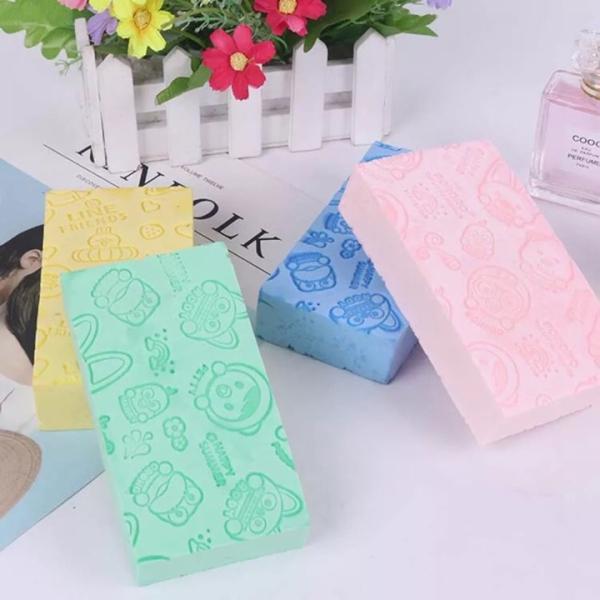Mút tắm kì ghét Hàn Quốc PORORO nhiều màu dễ thương, đồ dùng nhà tắm, phụ kiện vệ sinh cơ thể, dụng cụ kì lưng (MT04), Gia dụng Huy Tuấn giá rẻ