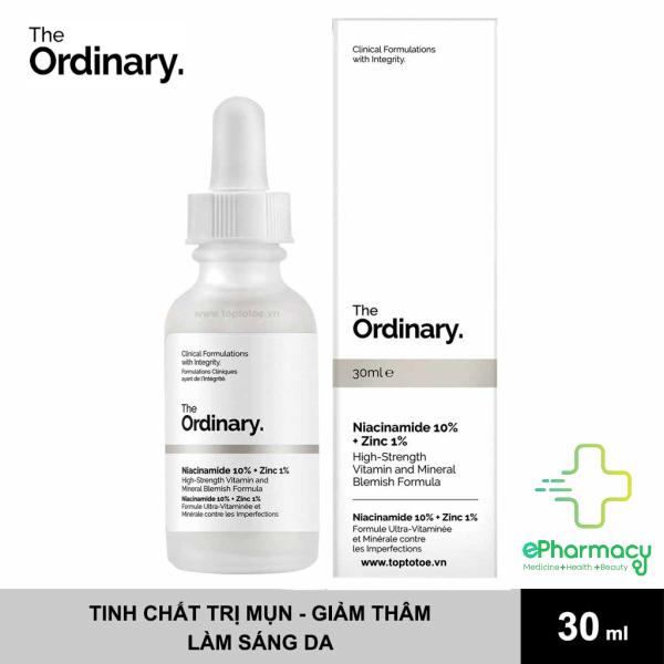The Ordinary Niacinamide 10% + Zinc 1% - Serum The Ordinary kiềm dầu, giảm mụn 30ml cao cấp