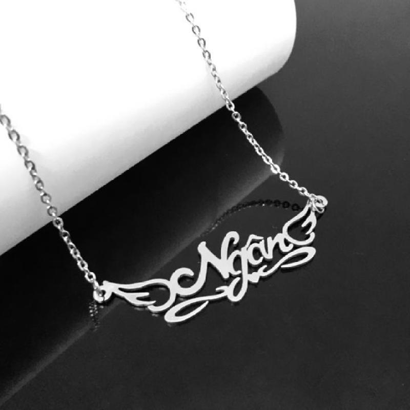 DÂY CHUYỀN INOX TÊN NGÂN, VÒNG CỔ CHỮ NGÂN TT068 - đẹp, không đen, chuẩn thời trang