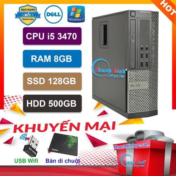 Bảng giá Máy Tính Để Bàn Đồng Bộ Dell Optiplex (Core i5 3470/ 8G/ SSD120GB/500GB) - Máy Tính Văn Phòng - Bảo Hành 24 Tháng - Tặng USB Wifi Và Bàn Di. Phong Vũ