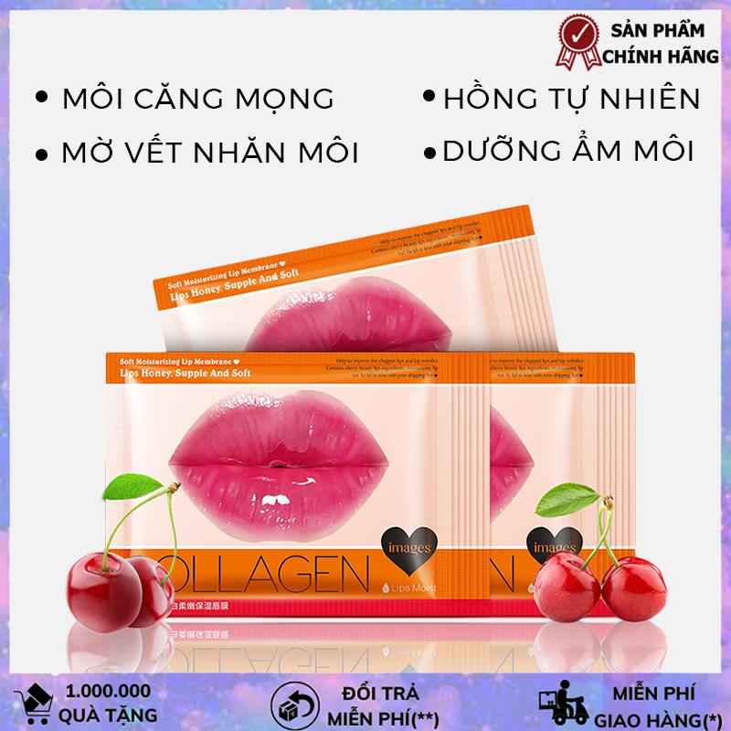 Mặt nạ môi Collagen Images mặt nạ dưỡng môi căng bóng hồng hào mềm mịn mask môi HTL-MN MOI