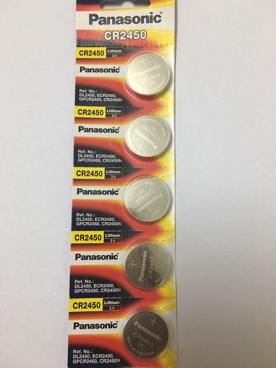 Pin CR2450 Panasonic vỉ 5 viên