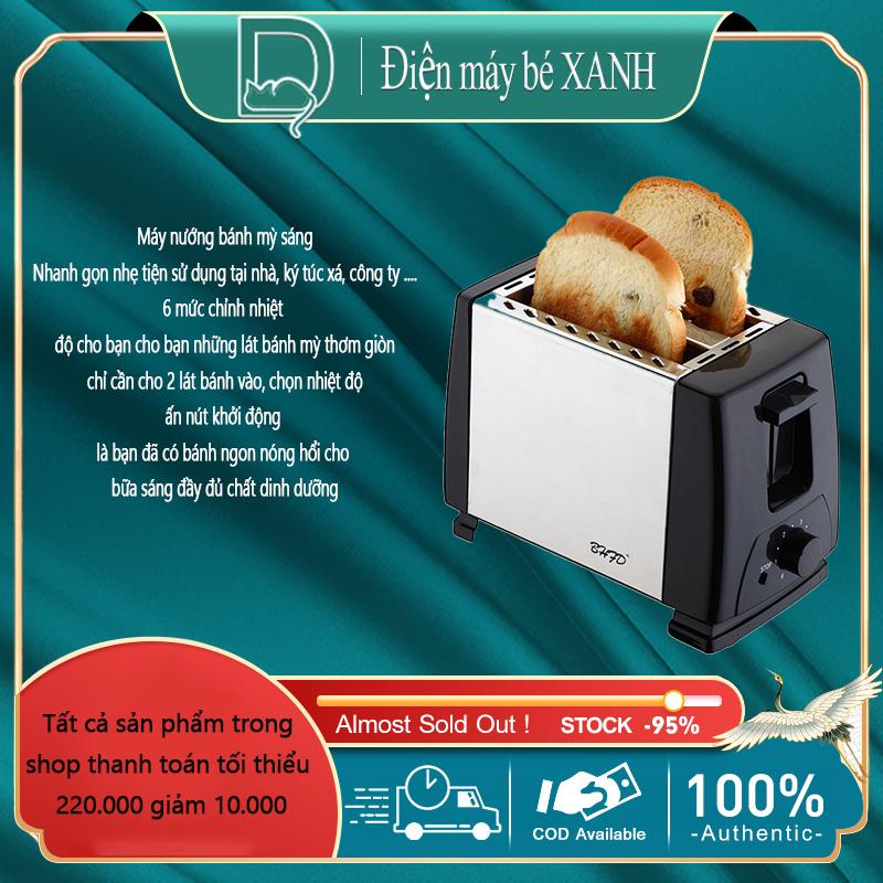 Máy nướng bánh mỳ tự động máy nướng bánh nướng 6 mức nhiệt tùy chỉnh máy làm bánh ăn sáng Điện máy bé XANH
