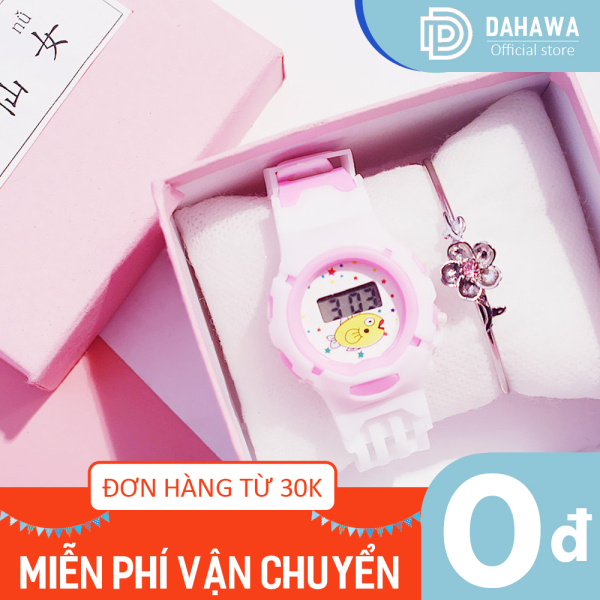 Giá bán Đồng hồ trẻ em C138, họa tiết hình thú dễ thương, dây nhựa mềm êm tay, chống nước nhẹ