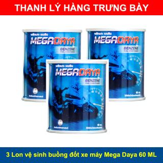 [THANH LÝ HÀNG TRƯNG BÀY] 3 Lon dung dịch vệ sinh buồng đốt, bình xăng con xe máy MEGA DAYA 60 ML thumbnail