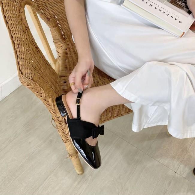 Sandal nữ , giày nữ 3p thắt nơ tiểu thư cực xinh giá rẻ