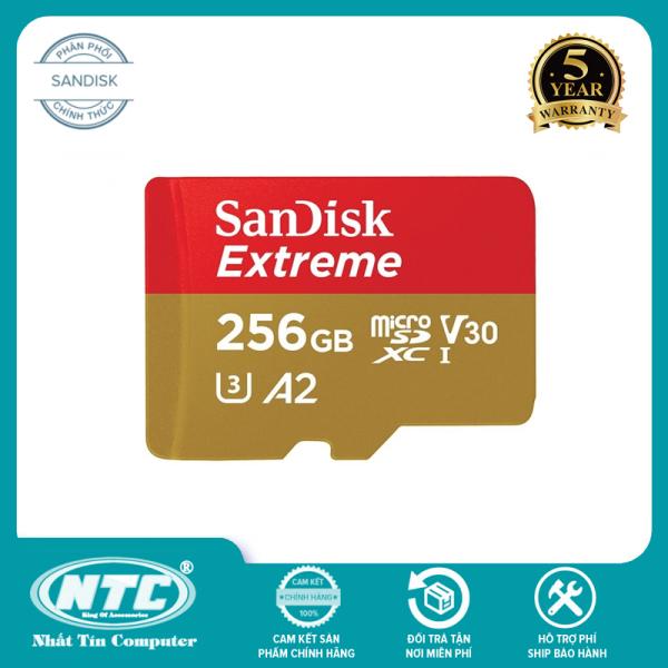 Thẻ Nhớ MicroSDXC SanDisk Extreme 256GB V30 U3 4K A2 R160MB/s W90MB/s (Vàng) - No Adapter - Nhất Tín Computer