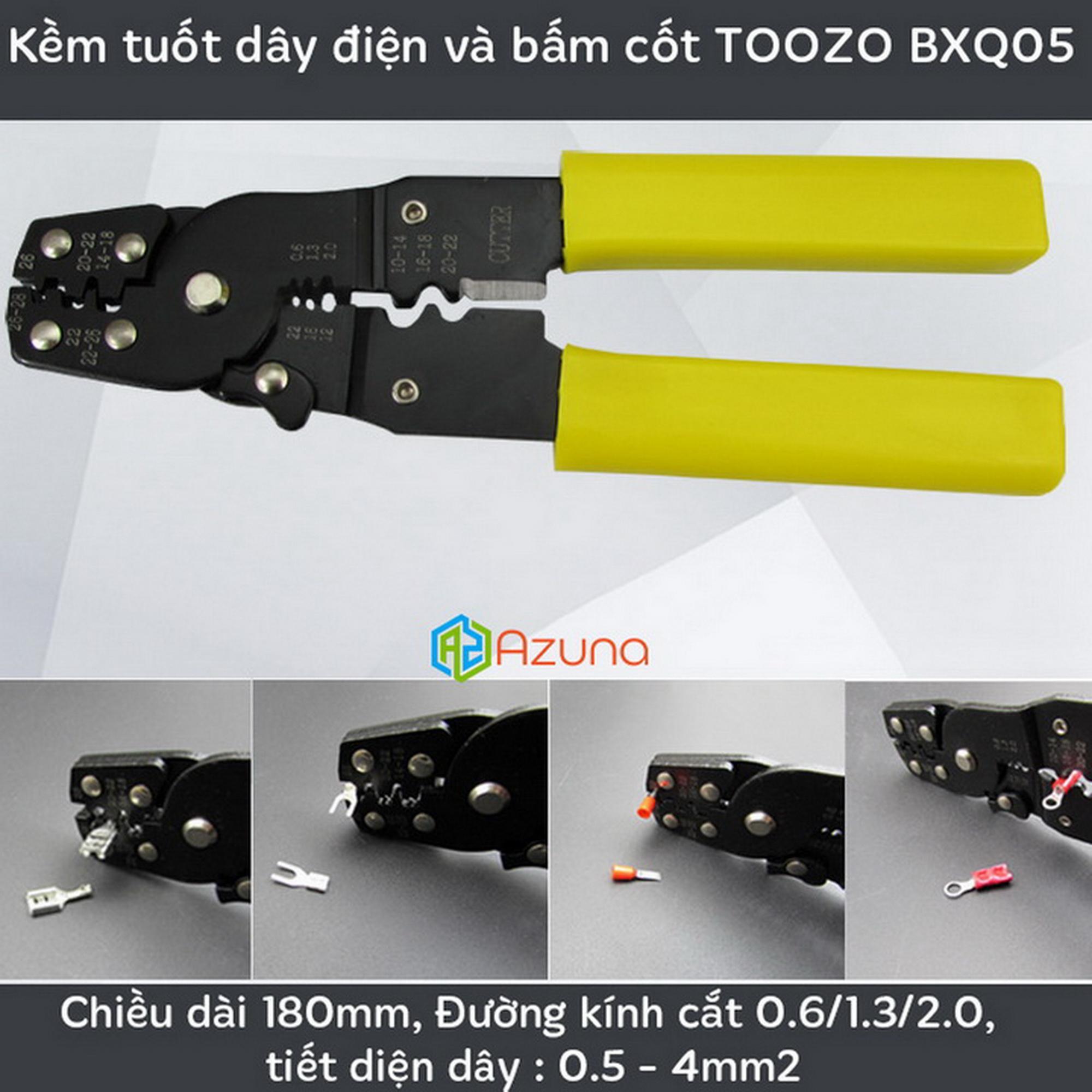 Kềm tuốt dây và bấm cos TOOZO BXQ05 ( Kìm bấm cốt )