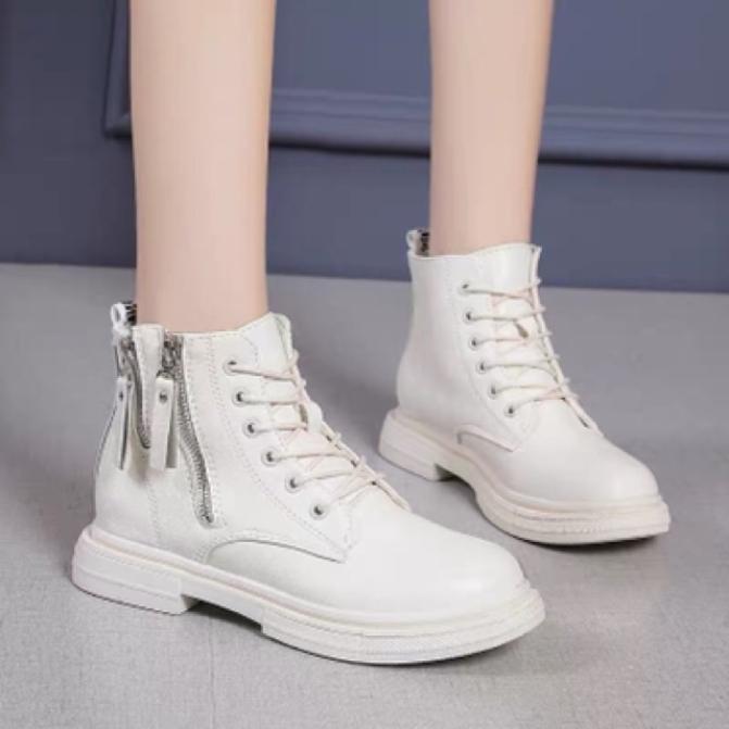 Giày bốt nữ kéo khoá cạnh mới Mixteen Store giá rẻ