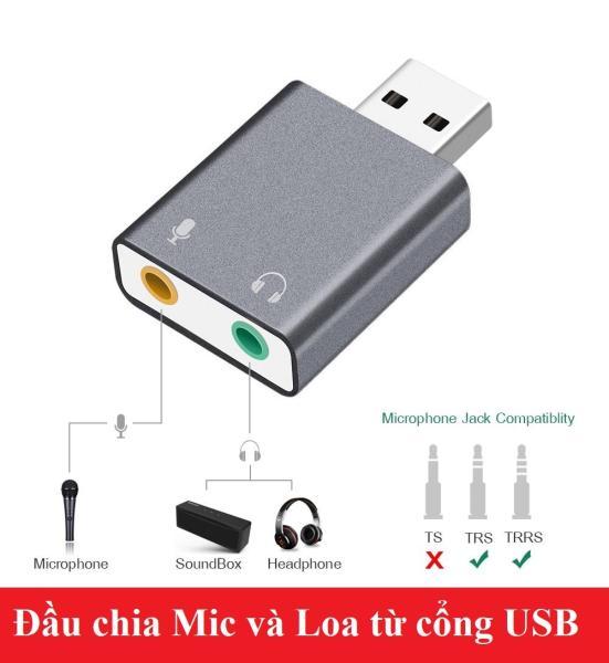 Bảng giá Đầu chia Mic và Loa từ cổng USB Phong Vũ