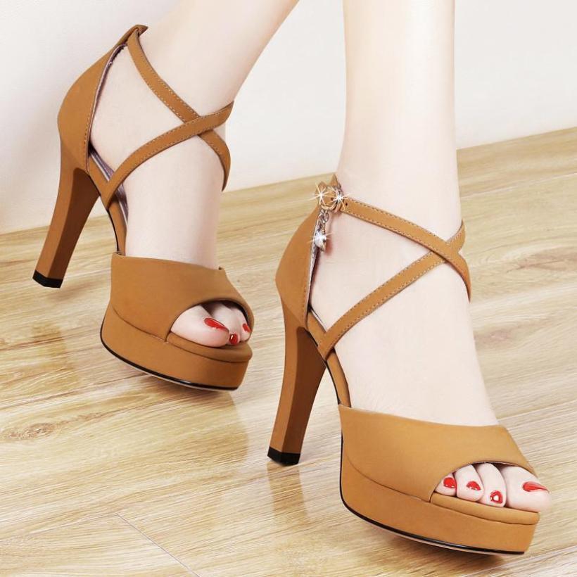 Giày cao gót quai đan chéo nhỏ - CG51 giá rẻ