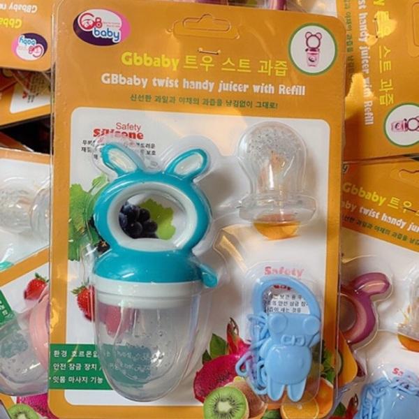 Túi Nhai Chống Hóc GB Baby Hàn Quốc 3 Chi Tiết Cho Bé (SP001133 )
