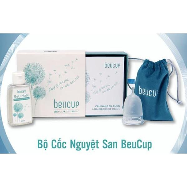 ( Tặng Gel rửa, Viên tiệt trùng) Cốc nguyệt san Beucup chuẩn sịn, siêu mềm, siêu sang, giá tận gốc
