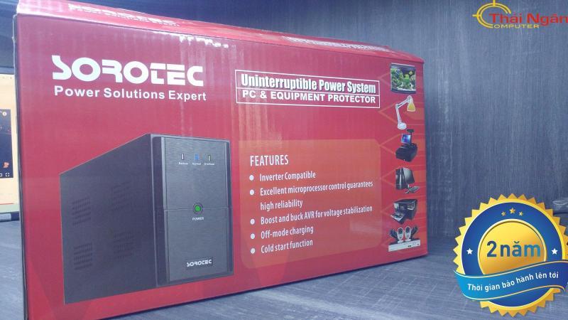 Bảng giá Bộ lưu điện Sorotec Office BL650(Đen) - Chính hãng phân phối Phong Vũ
