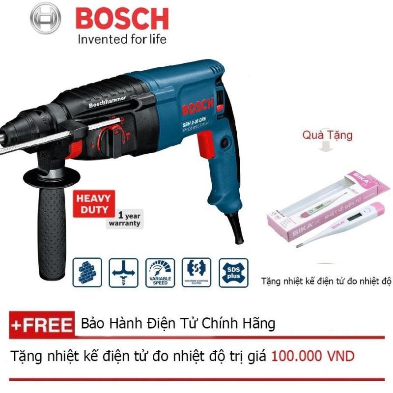 Máy khoan bê tông Bosch GBH 2-26 DRE + Quà tặng nhiệt kế điện tử