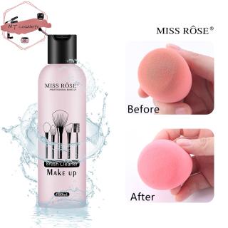 [CHÍNH HÃNG] Nước giặt cọ, Nước Rửa Cọ Trang Điểm Mút Tán Miss Rose sạch vi khuẩn ngăn mụn thumbnail