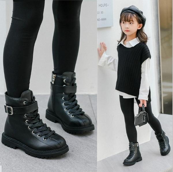 Giá bán Giày Boot ( cao cổ ) cho bé gái size 3 - 13 tuổi phong cách hàn quốc - BOT90