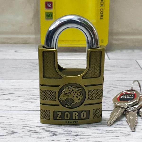 Ổ Khóa ZORO Size đại 6P Chống Cắt Đầu Báo ( Chìa Kiếm )